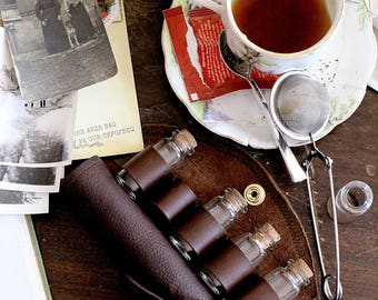 Leather Travel Tea Case - Steampunk Costume