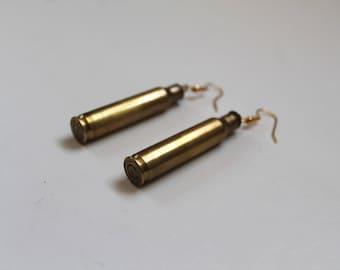 50 caliber bullet earrings