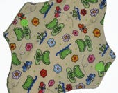 Liner Core- Froggy Flannel Reusable Cloth Mini Pad- 7.5 Inches (19 cm)