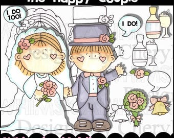 The Happy Couple Clipart Collection- Immediate Download
