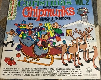 Vintage 1963 Christmas with the Chipmunks Volume 2 Album