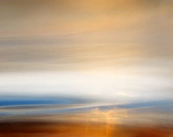 Evening Seascape.  Fine Art Photo. Giclee on canvas stretched.