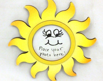 Sun Picture Frame - Hand Painted Frame