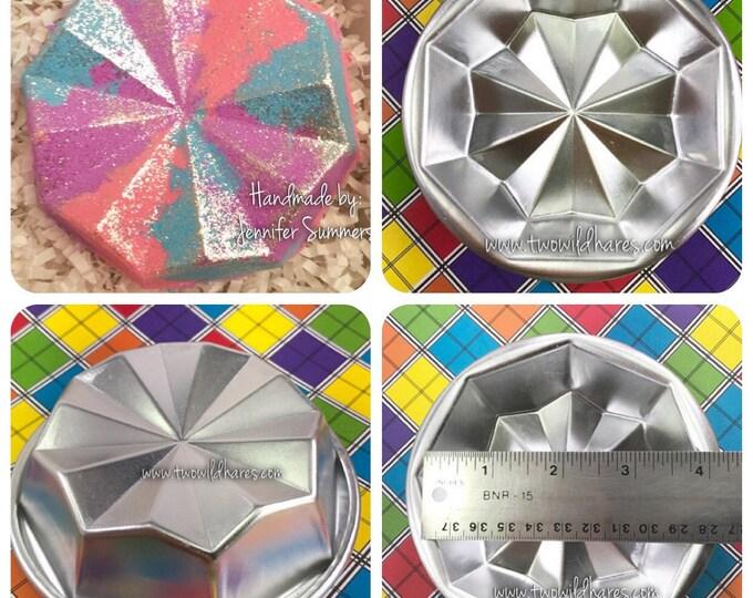 "CRAZY DIAMOND Bath Bomb Mold, Metal, 3.75x1.25"""