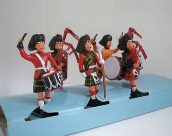 Vintage Collectible Souvenir Toy Scottish Pipe Band Original Box