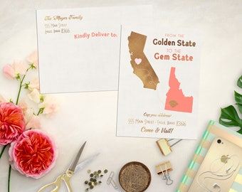 Custom State to State Moving Announcement. We've Moved Card. State Moving Card. Printable Moving Announcement. State to State Moving Card.
