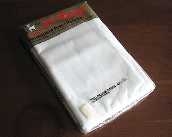 NEW St Mary Pillow Case set 2 QUALITY Vintage Cream WHITE standard New in original package