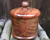 Wooden Box with Lid, Hand Turned Lidded Wood Box, Ambrosia Maple and Walnut Woods Wooden Box with Lid, Wood Canister, Sunset Turnings