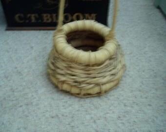 Old Woven Egg Basket