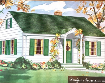 1950's Selected Homes of the Year Designs House Elevations Architecture Mid Century