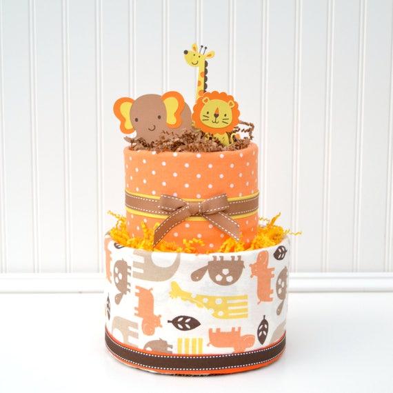 Safari Baby Shower Centerpieces, Jungle Shower Decor, Safari Shower Decorations, Jungle Diaper Cake, Jungle Shower Centerpieces Brown Orange