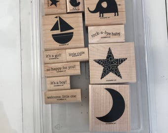 SUPPLY DESTASH - Used Stampin' Up! Nursery Necessities Stamp Set