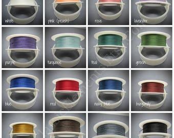 TuffCord #3, TuffCord, Tuff Cord, YOU choose color, Twisted Cord, Stiff Nylon cord, Wrap Bracelet Cord, macrame cord, Size zero, TuffCord #3