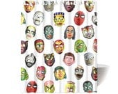 Custom for William - Fast shipping - Halloween Masks Shower Curtain