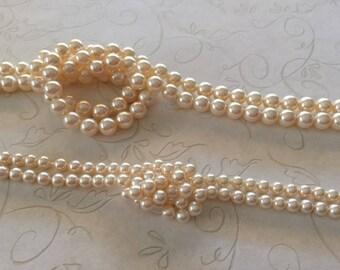 100 Swarovski Crystal Creamrose Pearls 4mm 6mm 5810 Round Wedding Pearls Overstock deep discounts (swp-84001/86001)