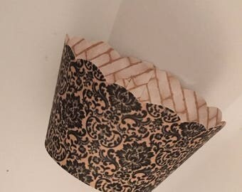 Black Lace Cupcake Wrappers, SALE
