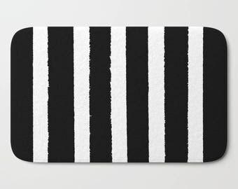 black stripe rug etsy