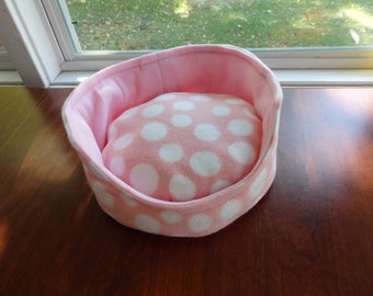Soft Pet Bed, Fleece Pet Bed, Cuddle cup, Guinea Pig bed, Hedgehog bed, pet beds, kitty bed, small pet beds