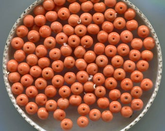 Antique Mediterranean Natural Coral, Loose Beads, Peach & Salmon Color, 5161.5218.C295
