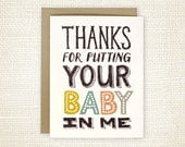 First Father's Day Card, Preganancy Announcement Card - Your Baby