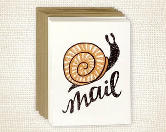 Boxed Card Set of 8 - Snail Mail
