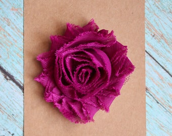 Shabby Plum Purple Flower Hair Clip