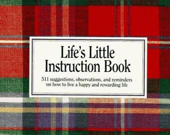 LIFE'S Little INSTRUCTION BOOK, Quotes, Happy Life How-to Paperback, Mother Fathers Da,  Unabridged, 1991, College, Graduation