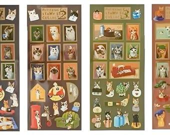Pottering Cat Stamps (STK-153)
