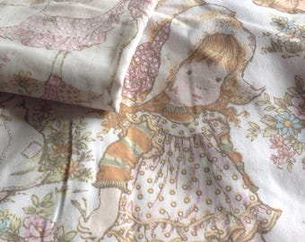 Vintage Sarah Kay Single Duvet Cover and Pillowcase,Vintage Childrens Bedding