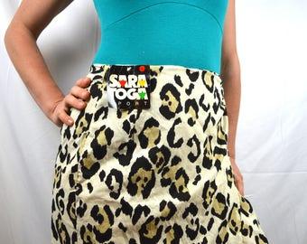 Vintage 80s 90s Animal Print Wrap Around Skirt - Saratoga Sport - NWT