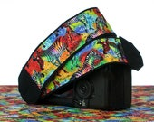 Camera Strap, Rainbow Zebra, Nikon strap, Canon strap, Neck Strap, Padded, Mirrorless, Pocket, Photography, dSLR, SLR, 298
