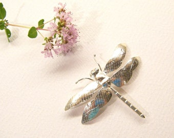 Vintage Dragonfly, Dragonfly Pin, Insect Brooch, Sterling Silver, Unmarked, ANIMAL CHARITY DONATION