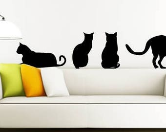 My cats removable wall stickers - set of 10