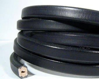 Black Wire Core Leather - WC23 - Choose Your Length
