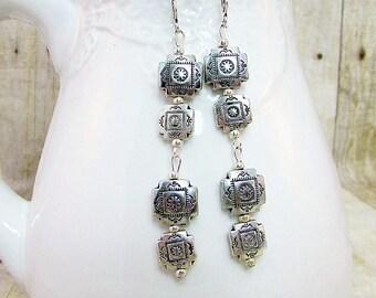 Silver Dangle Earrings - ER28 -