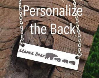 Mama Bear Necklace Gifts for Mom Gifts Valentine's Day Gift For Wife Gift Jewelry Wife Mother's Day Birthday Remembrance Option