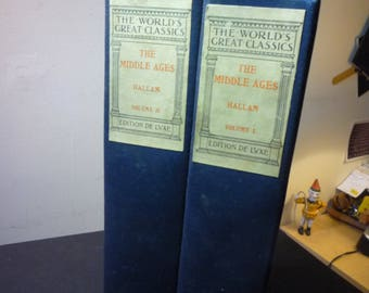 The Middle Ages - antique two volume set by World's Greatest Classics - Edition de Luxe - for Readers Historians 1900 illustrated