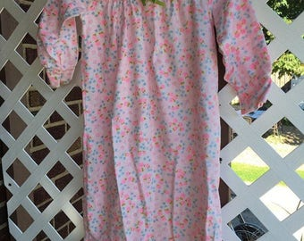 Girls vintage floral nightgown size 4t