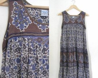 Spring SALE vintage 80s floral sundress / Hippie Boho Festival dress