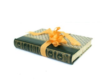 Benjamin Franklin Autobiography, Collector's Edition, Pocket Books, Inc., Green Book Decor