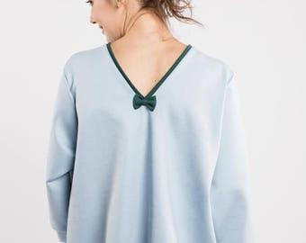 SALE - Chic blouse   Cute blouse   Light blue blouse   LeMuse chic blouse
