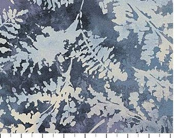 Northcott - Ambrosia - Scattered Ferns - Twilight - Grey Fabric by yard or select cut  21251-95