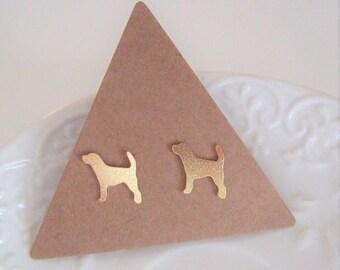 Dog Stud Earrings,Dog Earrings,Pet Gift,Dog Lover Gift,Dog studs,Dog Jewelry,Minimalist studs,Stocking Stuffer,Stud Earrings 10mm,Pet studs
