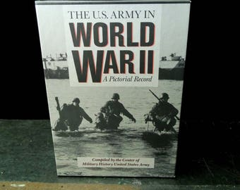 Vintage WWII Books Three Volumes - The U.S. Army in World War II A Pictorial Record Book Set Slipcase Edition