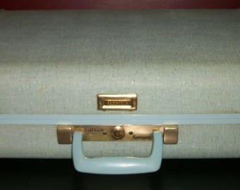 Vintage Samsonite Ultralite Turquoise Sparkle Suitcase