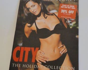 1 Vintage Victorias Secret Magazine - Yasmeen Ghauri Cover - CITY Issue, 1996 Holiday Collection Victoria Secret Catalog, Lingerie Book