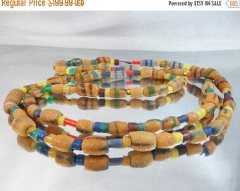 SALE Antique African Trade Beads Necklace. Antique. Czech Beads. Ghana.