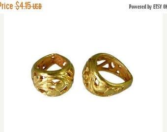 8% off SHOP-WIDE, ONE Bali 24kt Gold Vermeil Art Nouveau Pendant Bail, 13.5mm x 8.5mm, necklace, artisan-made