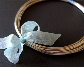 8% off SHOP-WIDE, 1 foot, 16 gauge Sterling Silver Wire, Round Dead SOFT, solid .925 sterling, wire wrapping, precious metal
