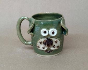Fun Animal Lover Gift. Funny Dog Mug Handmade  Microwave and Dishwasher Safe Stoneware Pottery by Ug Chug Mugs. Everyday Tea Mug. 20 Ounces.